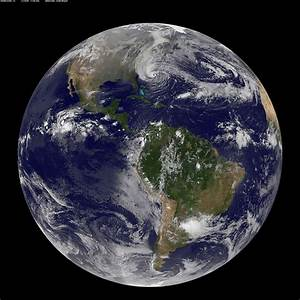 Hurricane Sandy As Seen From Space by NOAA-NASA GOES Satellite