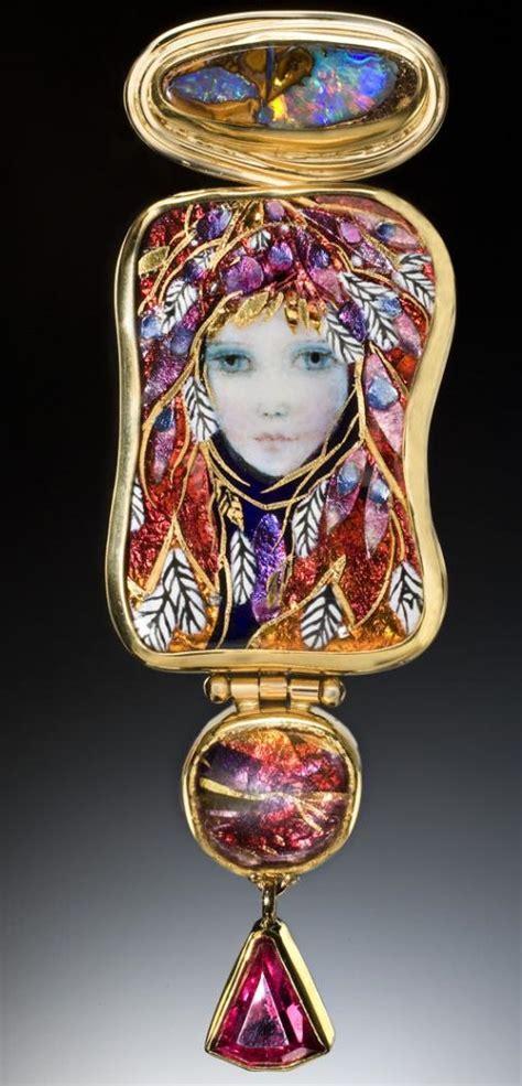 handcrafted enamel  jewelry artists mona alex szabados