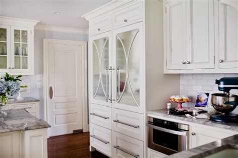 kitchen cabinets that look like furniture a pretty way to help the refrigerator blend into the d 233 cor