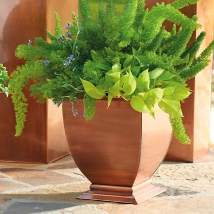 Copper Outdoor Planters by Copper Footed Outdoor Planters Grandin Road