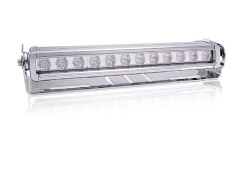 nuts about 4wd great white 12 led bar driving light chrome