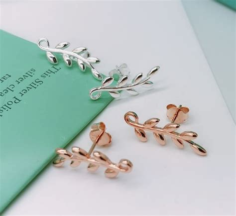 tiffany paloma picasso olive leaf climber earrings