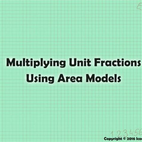 Multiplying Unit Fractions Using Area Models
