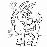 Donkey Coloring Printable Mule Shrek Preschool Drawing Getcolorings Getdrawings sketch template