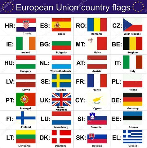 clipart bandiere bandiere dei paesi dell unione europea vettoriali stock