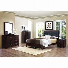 Contemporary Casual Espresso 4 Piece King Bedroom Set