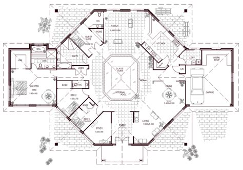 5 Bedroom House Plans Australia by 5 Bedroom House With Pool 4 Bedroom House Floor Plans With