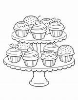 Cupcake Coloriage Colorir Cupcakes Ausmalbilder Desenhos Coloring Imprimer Kleurplaat Desenho Hello Kostenlos Zum Muffin Infantil Fairy Erwachsene Ausdrucken Tout Colouring sketch template