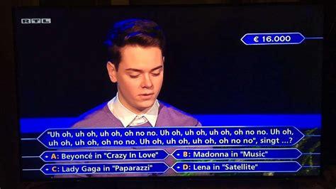 """Damit fiel er damals auf 1000 euro zurück. """"Wer wird Millionär?"""": Jauch stellt die seltsamste 16.000 ..."""