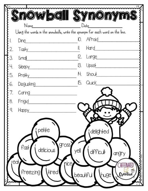 have students practice finding synonyms for words with