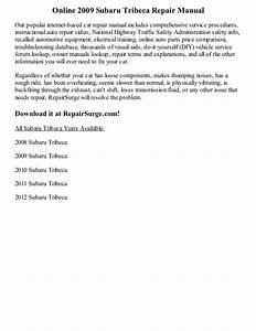 2009 Subaru Tribeca Repair Manual Online