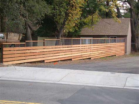 Horizontal Wooden Fence Plans