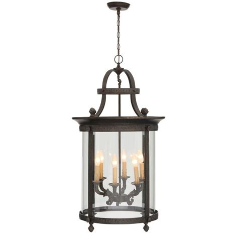 home depot outdoor hanging lights world imports chatham collection 6 light french bronze