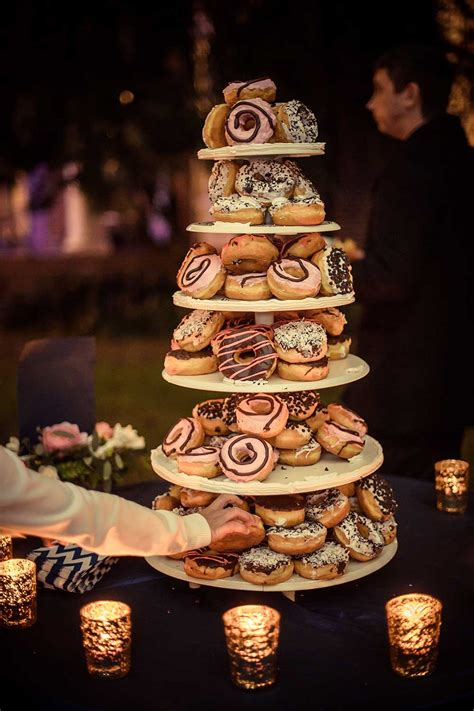 donut tower wedding cake  celebration society