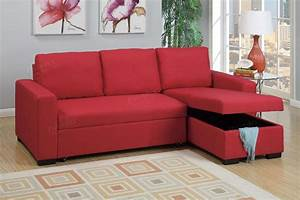 poundex samo f6933 red fabric sectional sofa bed steal a With sectional sofa bed los angeles