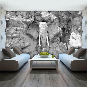 Tapete Living : details zu vlies fototapete tapete foto bild elefant grau ~ Yasmunasinghe.com Haus und Dekorationen