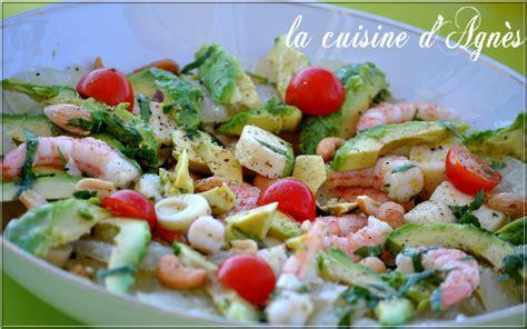 cuisine salade salade de crevettes avocat pomélo la cuisine d 39 agnèsla