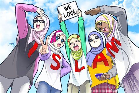 kumpulan tauhid gambar gambar kartun islami muslimah berjilbab terbaru