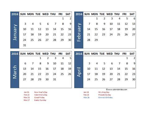 excel  month calendar template  printable