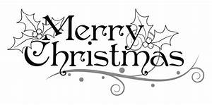 Black And White Merry Christmas Clipart - ClipartXtras