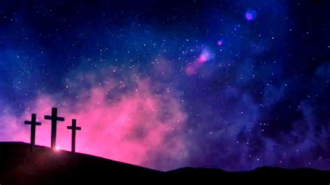 Animated Cross Wallpaper - christian loop background jesus cross with
