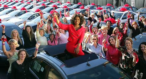 Oprah Gives Cars by Oprah Winfrey Revisits 2004 Car Giveaway Chicago