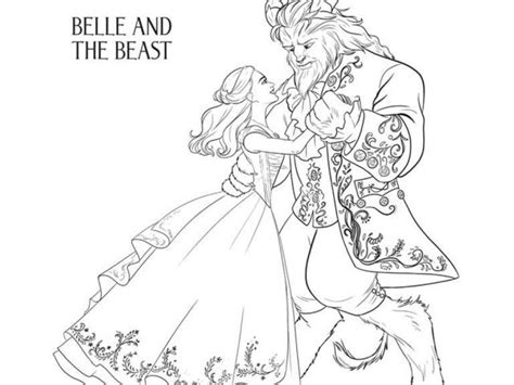 Belle Beauty And The Beast Coloring Pages Costumepartyrun