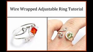 Easy Jewelry Tutorial   Wire Wrapped Adjustable Ring With