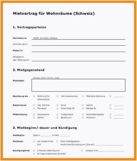 änderung Mietvertrag Vorlage by Vordruck K 252 Ndigung Mietvertrag Bild Neues Mietvertrag