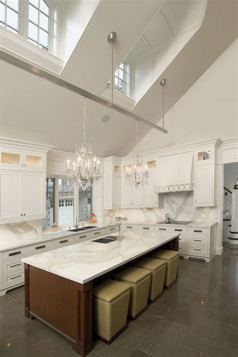 adorable kitchen island lighting  vaulted ceiling