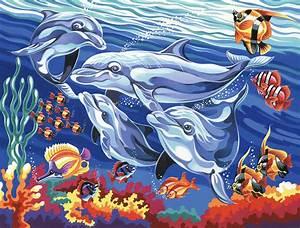 Gras An Die Wand Malen : delfine malen nach zahlen alle motive malennachzahlen mona ~ Markanthonyermac.com Haus und Dekorationen