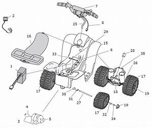 Power Wheels Lil Quad Restage Parts