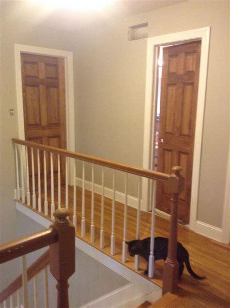 wood doorsstained special walnut  white trim