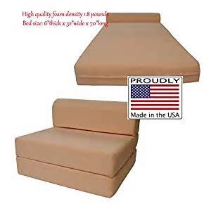 amazon com peach sleeper chair folding foam bed sized 6
