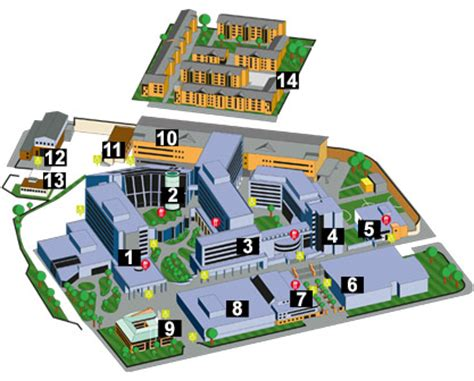 campus map glasgow caledonian university scotland uk