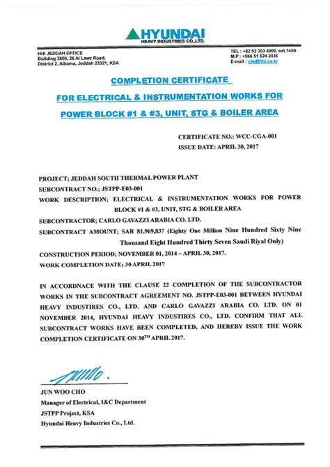 Jct Practical Completion Certificate Template by Practical Completion Certificate Template Jct Choice Image