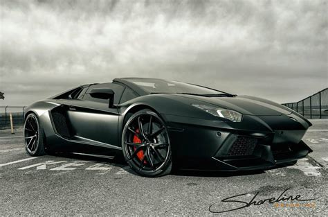 matte black aventador roadster  ready