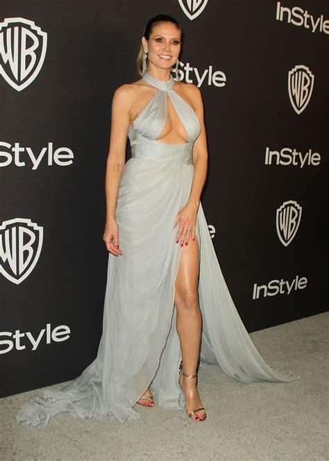 Heidi Klum Instyle Warner Bros Golden Globe Awards