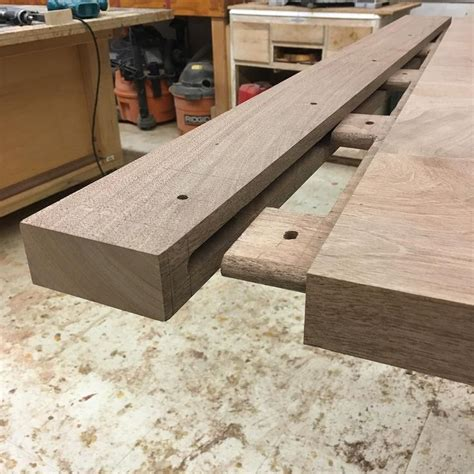 joinery  breadboard ends   trestle table