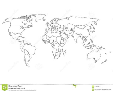 Carte Vectorielle Monde Powerpoint by Carte Du Monde Avec Des Fronti 232 Res De Pays Illustration De