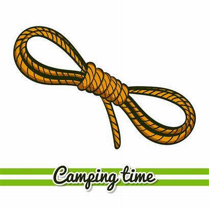 Rope Vector Knot Camping Coiled Equipment Clip