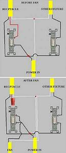 Wiring A Ceiling Fan To A Switch That Controls A Split Receptacle
