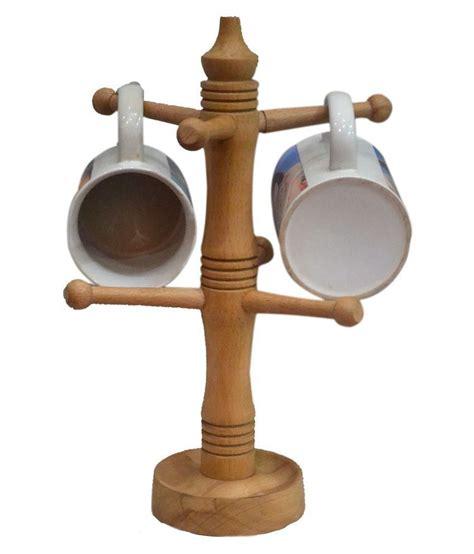 Cc_ under shelf cup mug holder hanger coffee kitchen storage rack cupboard surpr. Alishba Wooden Coffee Mug Tree Tea Cup Holder Stand Mug Storage Rack with 6 Hooks: Buy Online at ...