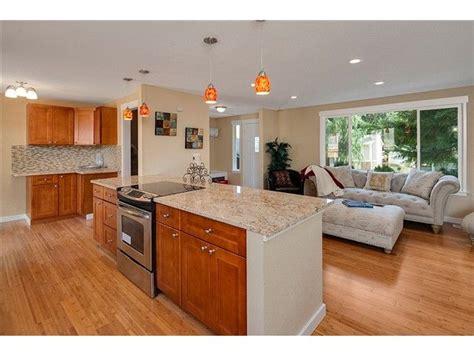Split Level Kitchen Living Room Remodel by Kitchen Living Room Wall Removed In Tri Level Split Level