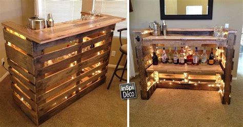 fabriquer un bar de cuisine mini bar en bois de palettes voici 20 idées créatives