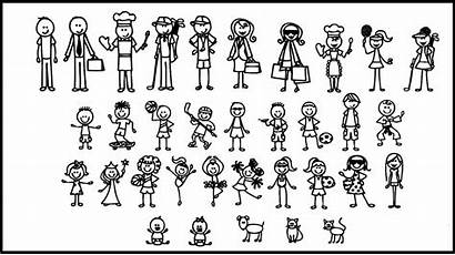 Stick Figures Funny Decal Sticker Vinyl Applied