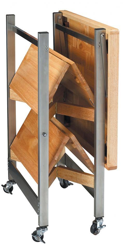 purpose folding kitchen cart folding island