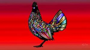 Rooster Bright Other & Animals Background Wallpapers on