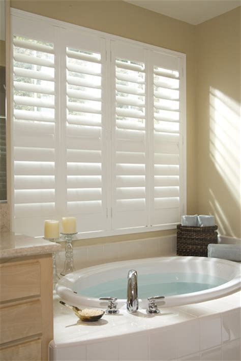 Bathroom Window Coverings by Indoor Shutters Chicagoland Storage Solutions Window