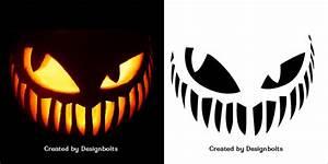 10, Free, Scary, Halloween, Pumpkin, Carving, Stencils, Patterns, U0026, Ideas, 2018
